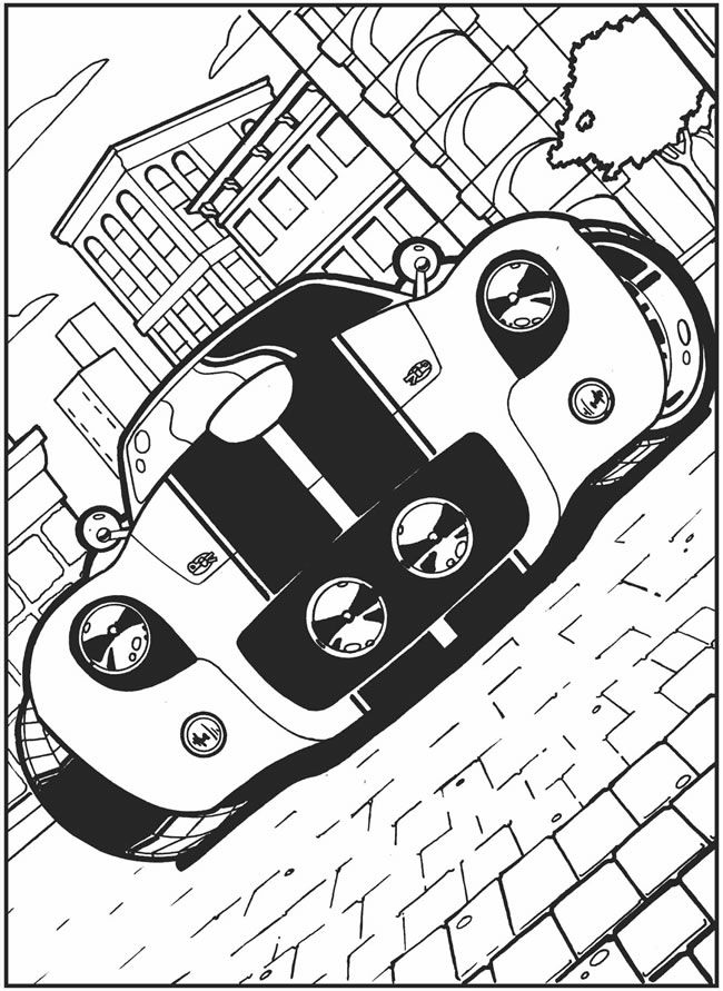 crazy car coloring pages - photo#1