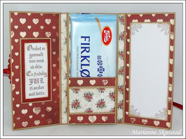 Perfect for sending Galaxy to Canada! Mariannes papirverden.: Sjokoladekort
