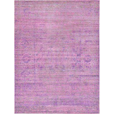 Mistana Bradford Purple Area Rug Rug Size: 7' x 10'