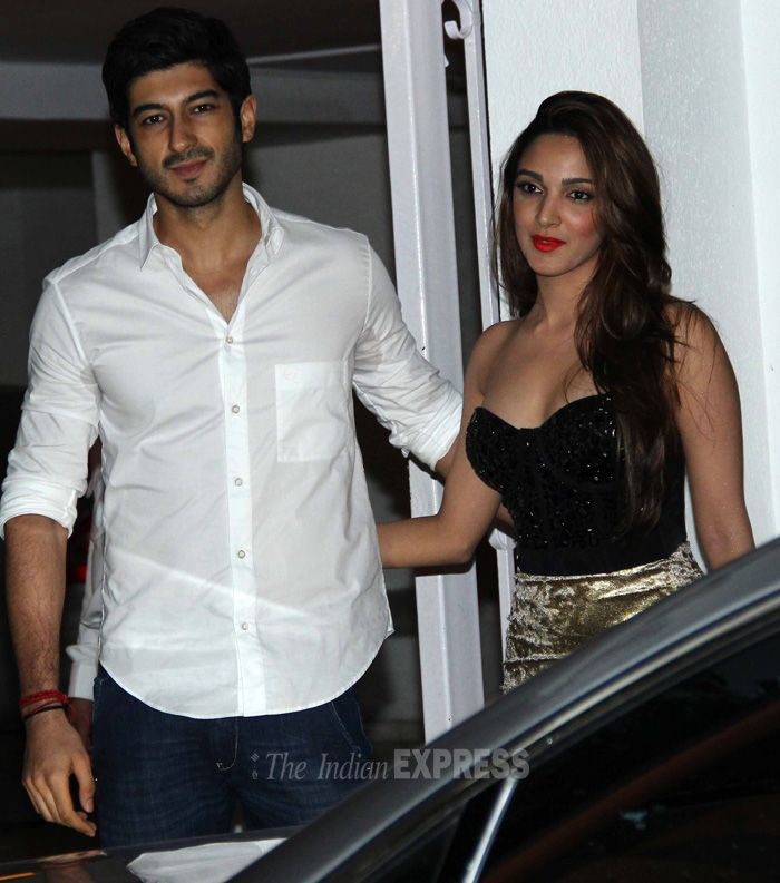 Mohit Marwah with his 'Fugly' co-star Kiara Advani at Karan Johar's birthday bash. #Style #Bollywood #Fashion #Beauty