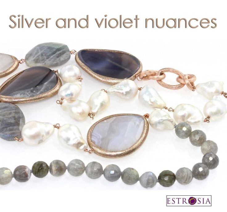 Silver and violet, a perfect mix to complete your formal looks or a business outfit.. By Estrosia, on http://www.civettajewels.it/store/it/home/65-collana-lunga-con-perle-barocche-e-pietre-dure-estrosia.html#