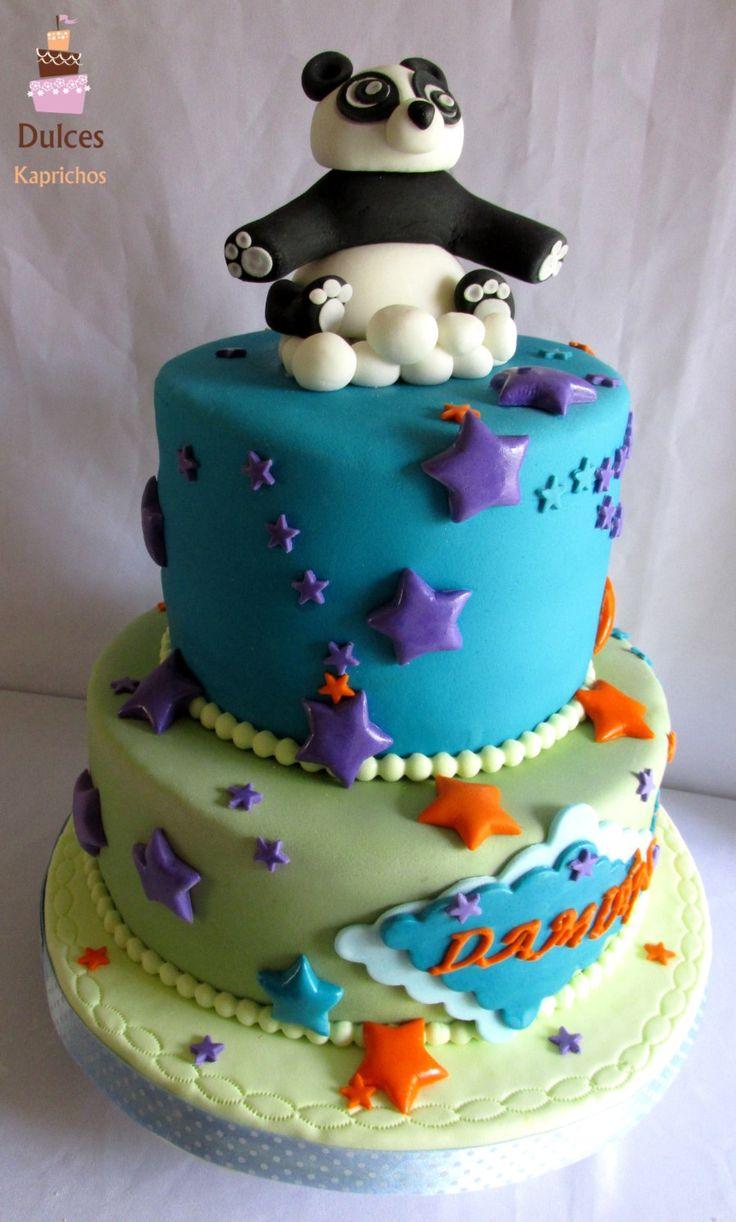 Torta Baby Shower Osito Panda #TortaBabyShower #TortasDecoradas #DulcesKaprichos