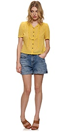 Whistles yellow blouse