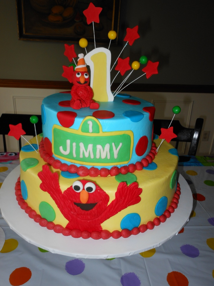 Elmo Birthday Cake My Cakes Pinterest Birthday Cakes