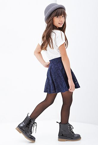 Flared Floral Lace Mini Skirt (Kids) - PARTY - Girls - 2000101207 - Forever 21 EU