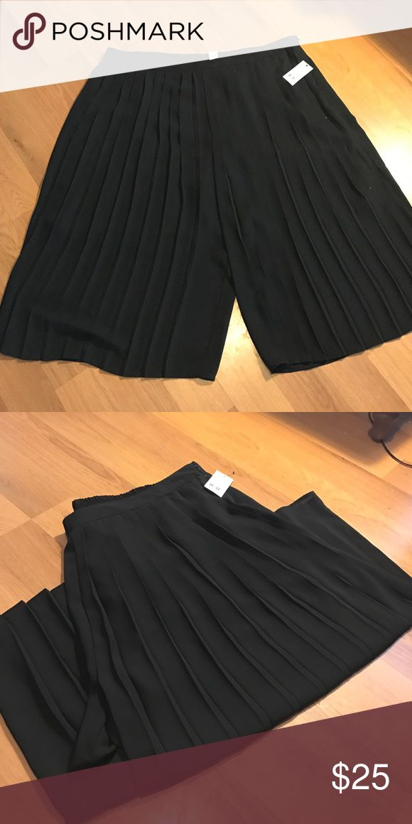 PLUS💋NY Collection Palazzo shorts NWT. Give the illusion of wearing a skirt with these wide leg shorts. Pleated front detail with a solid plain back. NY Collection Shorts