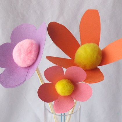 Construction Paper Flower Craft Tecnorac Com