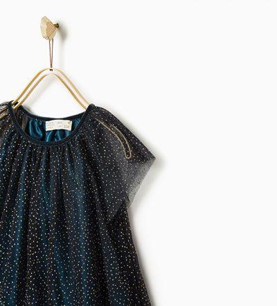 GLITTER TULLE DRESS from Zara