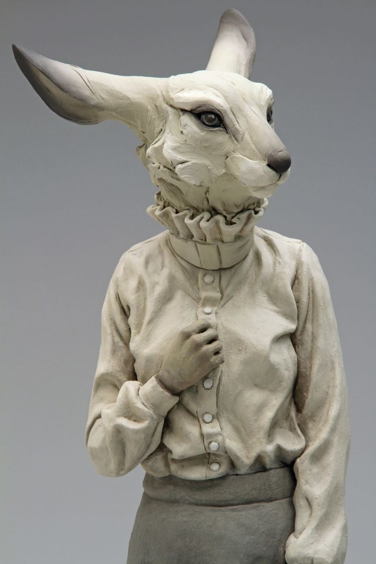 """Beth Cavener, collaboration with Alessandro Gallo – """"We Are Not Who We Seem"""" sculpture"""