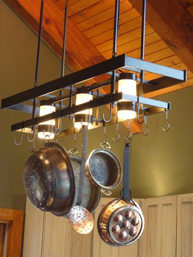 Gorgeous pot rack