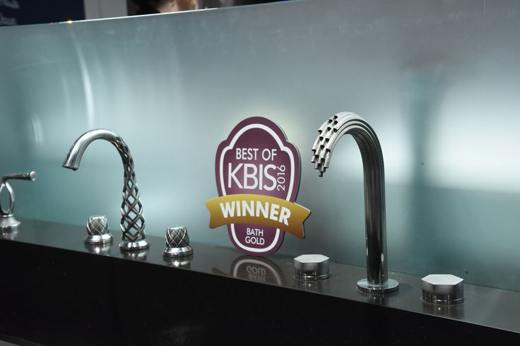 Best of KBIS 2016 - #BOK2016 - Best of Bath - Gold Winner - @dxv by American Standard's Vibrato Faucet.