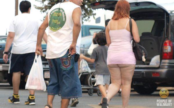 I wonder if she realizes she left her pants home?