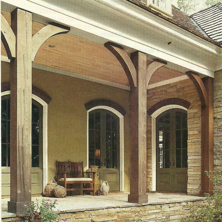 Best 25 front porch pillars ideas on pinterest porch for Rustic porch columns