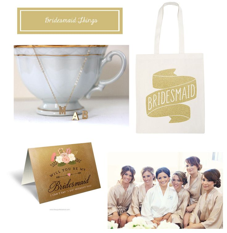 Wedding Present Ideas For Bridesmaids : Gift ideas for bridesmaids wedding Pinterest