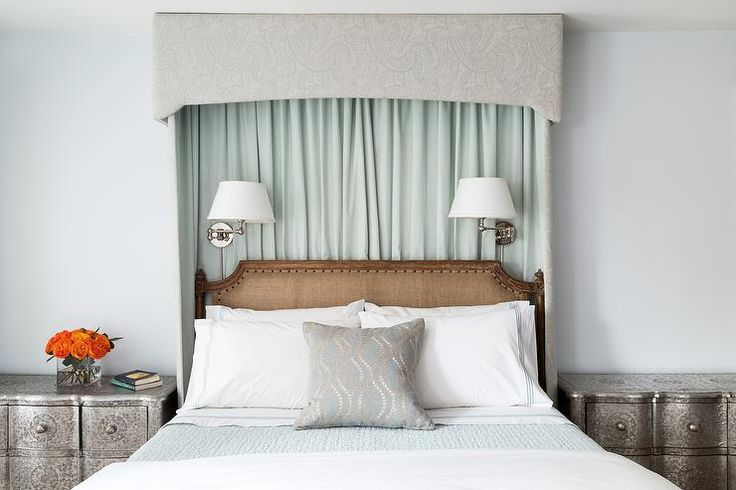 25+ Best Ideas About Curtain Behind Headboard On Pinterest