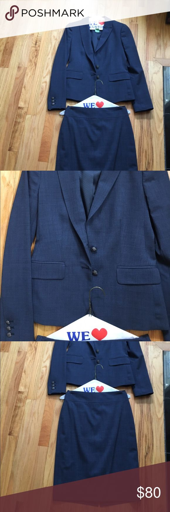 Banana republic suit Navy blue banana republic suit. Great condition. Skirt and blazer combo. Sold together Banana Republic Jackets & Coats Blazers