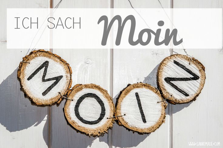 Türschild aus Astscheiben / Door sign made of slices of a branch / Upcycling