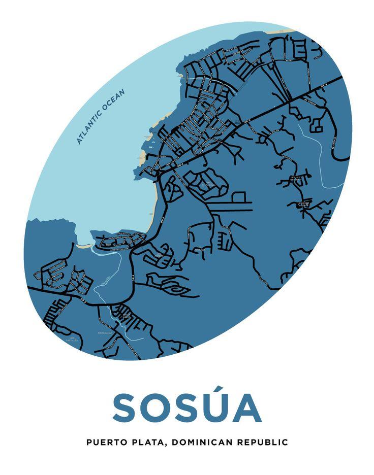 Sosúa Puerto Plata Dominican Republic Map Print