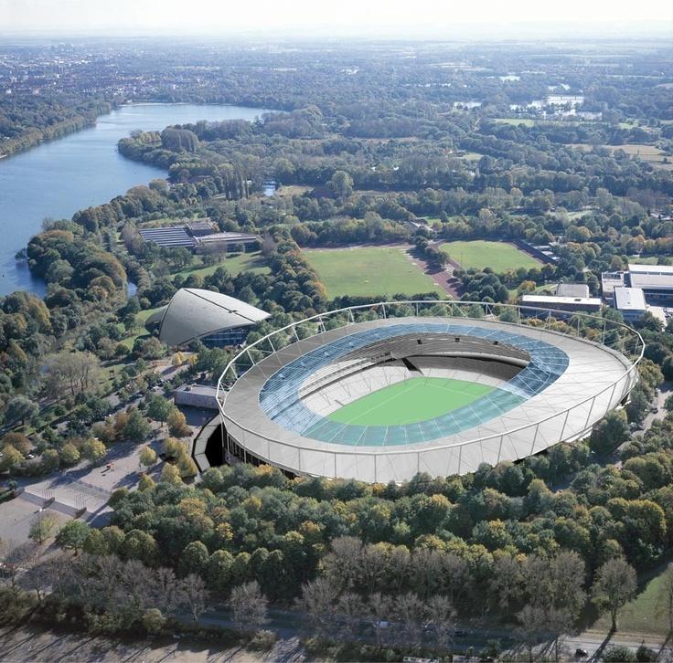 Hannover Stadium, aquí jugo México su tercer partido en Alemania 2006 contra Angola, un 16 de junio.