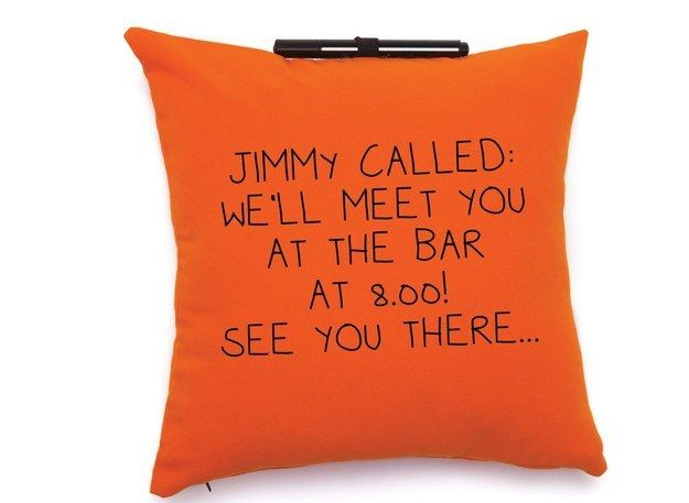 And a pillow you can use as a notepad.   26 Totally Awesome Products That Will Make Your Life More Fun