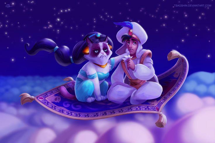 #Pelicula #Mashup | Gumpy Cat destruyendo Disney - A whole new no' http://beewatcher.es/grumphy-cat-disney-mashup/
