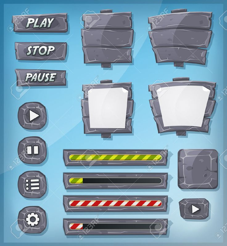 http://previews.123rf.com/images/benchart/benchart1404/benchart140400003/27286713-Illustration-of-a-set-of-various-cartoon-design-ui-game-stony-and-rock-elements-including-banners-si-Stock-Vector.jpg