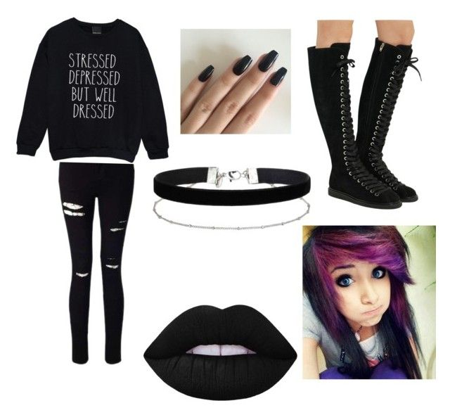 """""""Goth ootd"""" by jaraujo3 on Polyvore featuring Miss Selfridge, Alexander Wang and Lime Crime"""