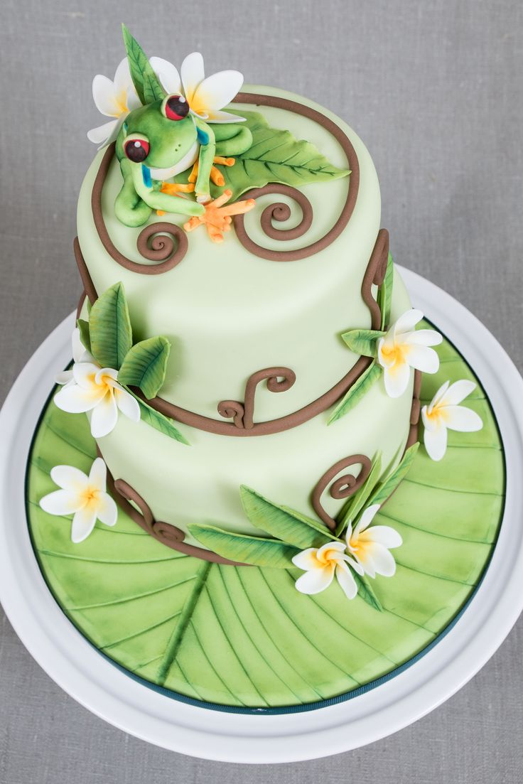 Tree Frog & Frangipani cake                                                                                                                                                                                 More