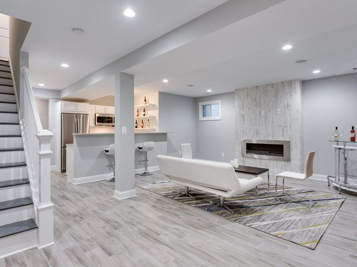 25 best ideas about Modern Basement on PinterestModern