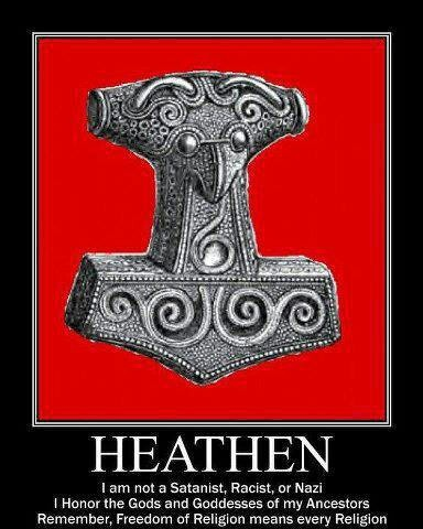 Heathen poster... unfortunate color choice actually.