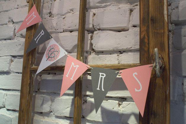 Girlandy, bannery z dowolnym napisem - AkcydensySlubne - Girlandy ślubne
