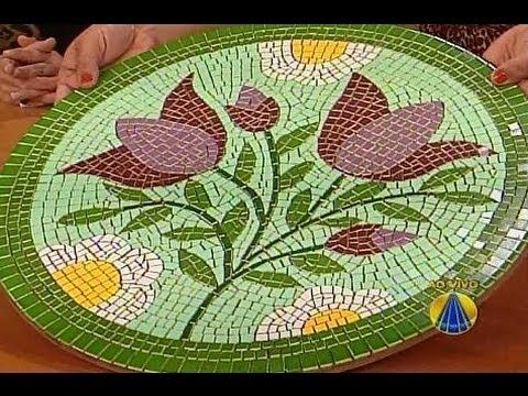 Artesanato: Como fazer mosaicos 1 - YouTube