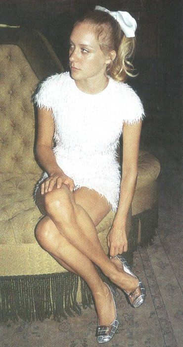 I dream of making a (faux) fur dress, this is close. (Chloe Sevigny)