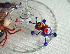 Buggy Wine Charms (Set of 8)