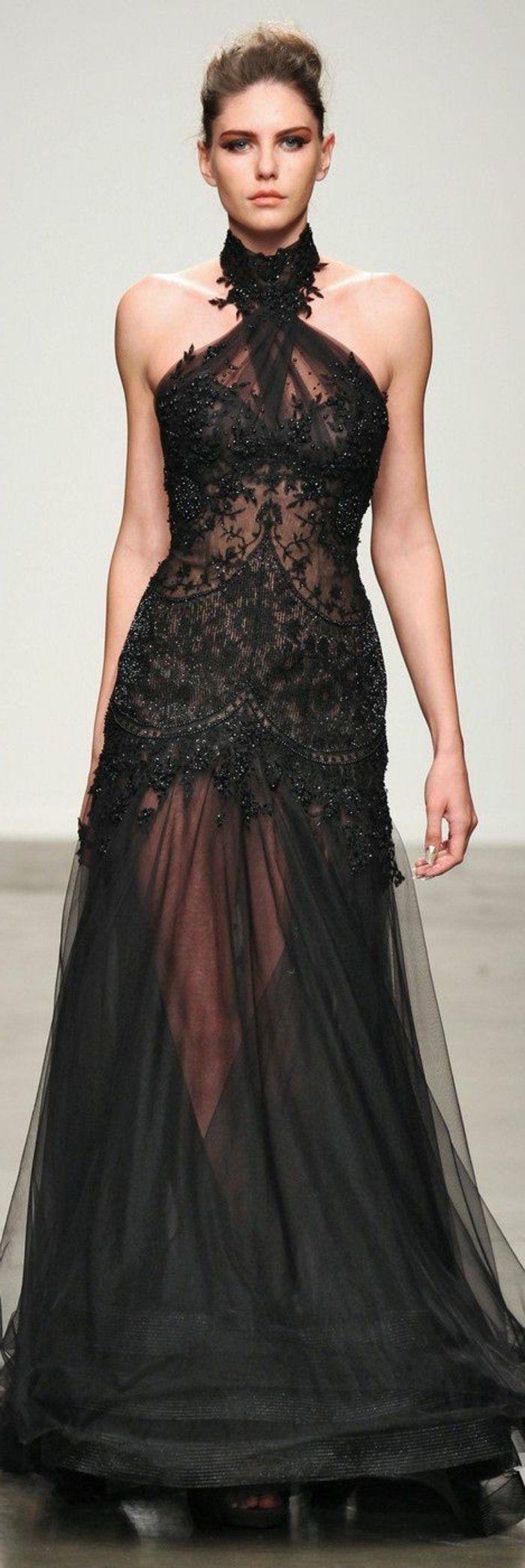 robe cocktail mariage elegante de couleur noire