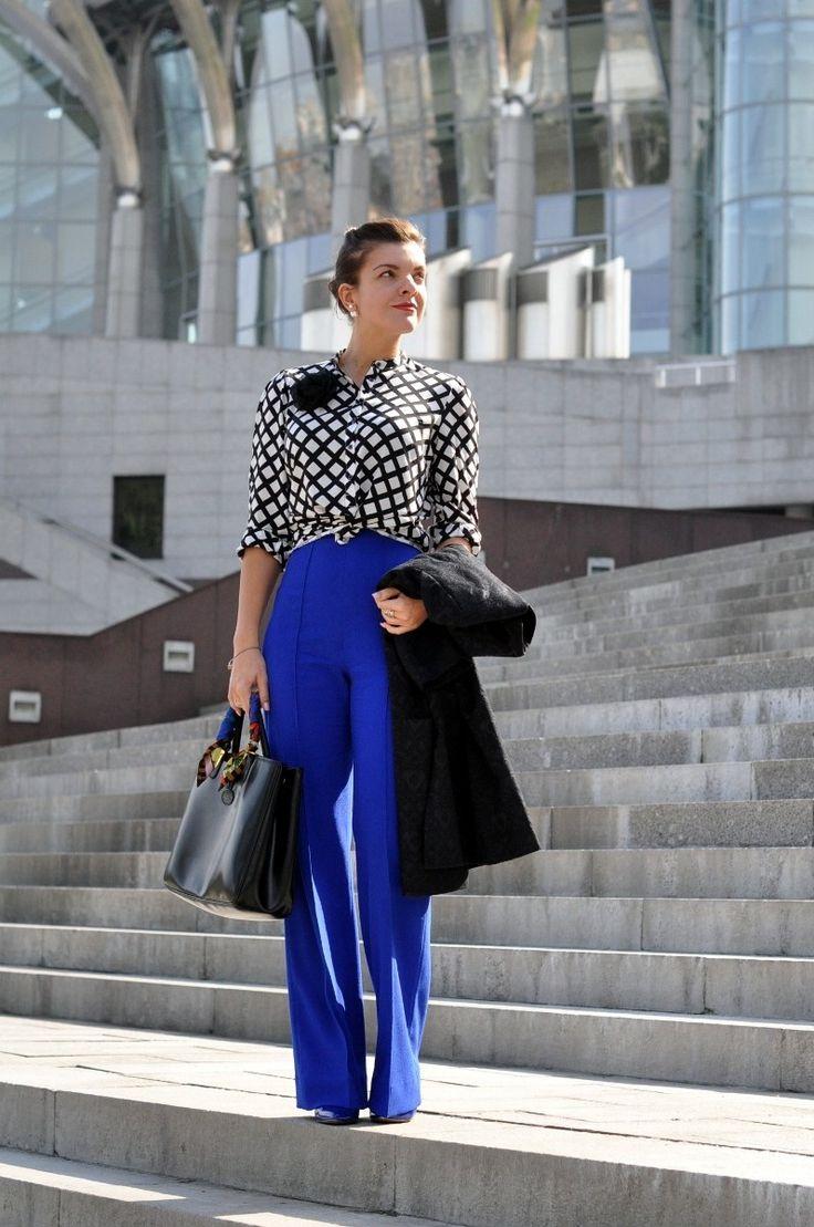 Cobalt trousses. Outfit