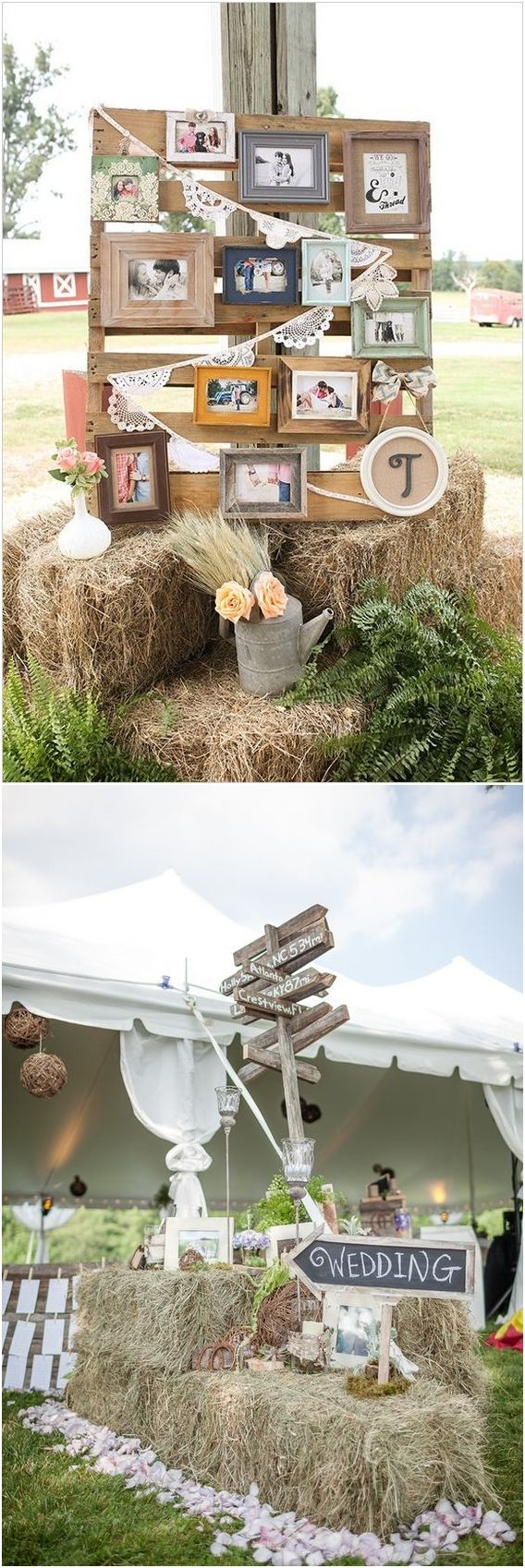 rustic country wedding decor ideas / http://www.deerpearlflowers.com/country-rustic-wedding-ideas/