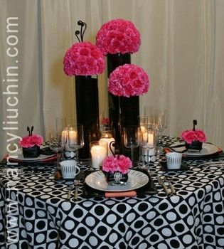 Wedding, Flowers, Pink, Black by Sumreen
