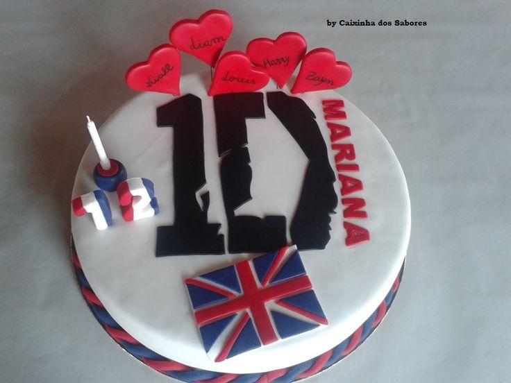 Bolo One Direction da Mariana