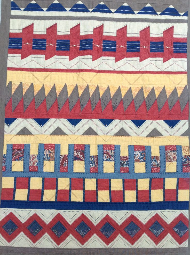 Seminole quilt with added stitching