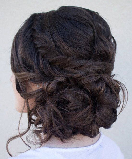 Chignon Bun Hairstyles for wedding / http://www.meetthebestyou.com/20-fabulous-chignon-bun-hairstyles-for-wedding-prom/