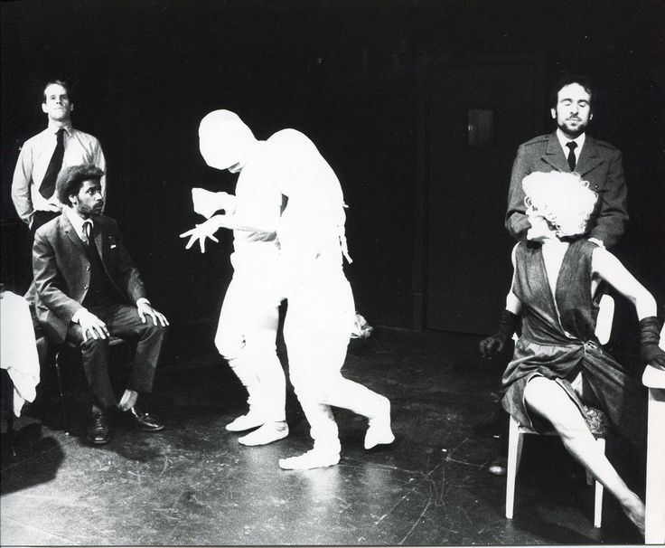 Internationalist Theatre`s London premiere of Griselda Gambaro`s ` The Camp Theatre ` In this production shot we see Griselda Gambaro`s visual expression of elements of the theatre of the Absurd and Theatre of Terror. https://www.flickr.com/photos/internationalist_theatre_rockas/albums/72157628011069680  https://en.wikipedia.org/wiki/Internationalist_Theatre https://flic.kr/p/aHtLj6