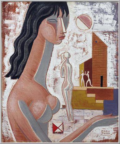 Mario Tozzi 1972: Giochi di Donne. Olio su Tela cm.65x54 - Collezione Privata - Archivio n.580 - Catalogo Generale Dipinti n.72/19.