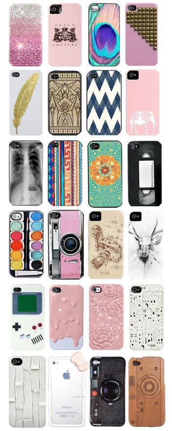 Phone cases. Some of these are really cute I like the peacock feather one.