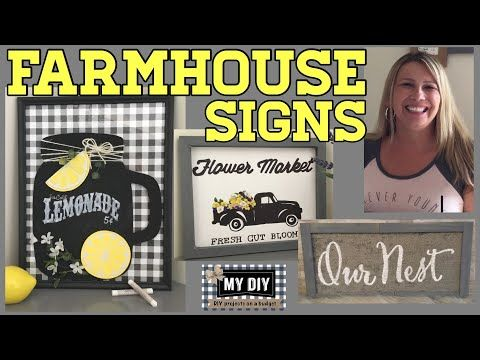 Custom Farmhouse Signs | Homemade wall decor | Dol…