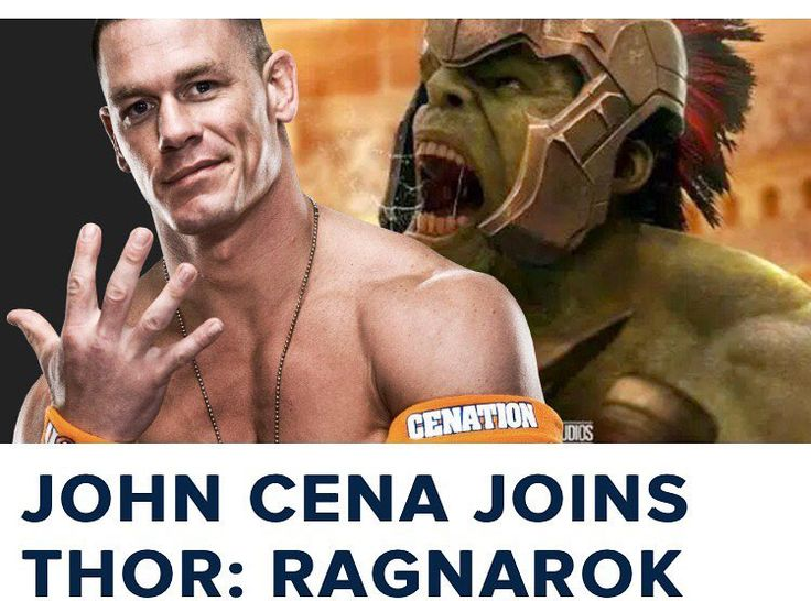 Apparently #JohnCena had been cast in #ThorRagnarok -- as himself! Saw an article by CosmicBookNews.com on Facebook so I did some digging. Now if you look at the #Thor #Ragnarok IMDB page it lists John Cena as himself. I can see it now. #JeffGoldblum's #Grandmaster snatches up champions from all over the cosmos to fight in his #PlanetHulk style arena (a nod to #Marvel's original #ContestofChampions comic book) -- and John Cena would either make a cameo in the arena itself or in an overview…