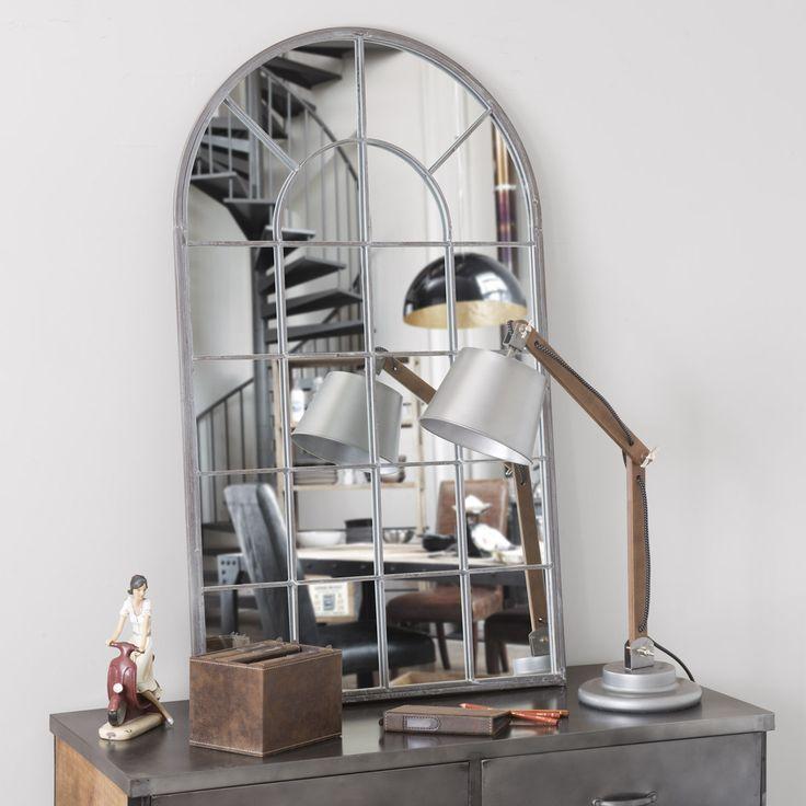 Miroir en métal H 110 cm ARCADE