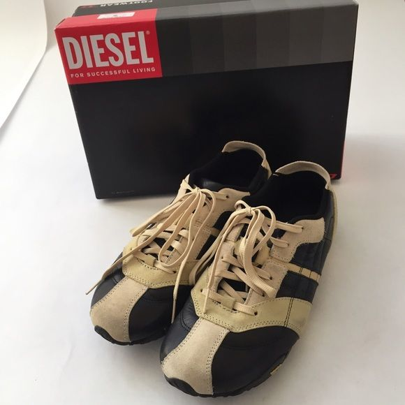 Women's Diesel Shoes Women's Diesel Shoes in black leather with light yellow suede. In very good condition. Trades Smoke/Pet Free Diesel Shoes