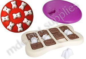 INTERACTIVE TOYS - Spin Magic Brick Bone Game Fun Dog Puppy Pet Treat Puzzle mdc