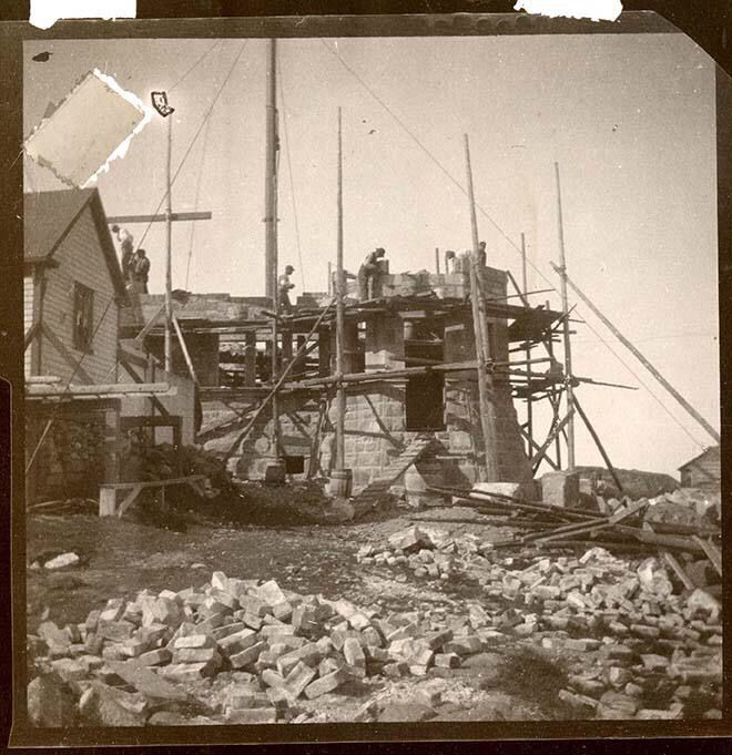 Cabot Tower construction 1897